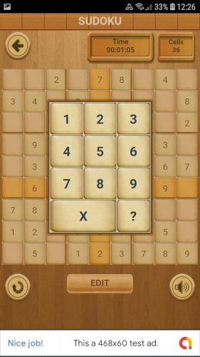 Sudoku Classic (Admob + GDPR + Android Stüdyo)
