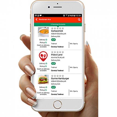 Restoran Sipariş Yazılımı - Android ve Ios Mobil Uygulama